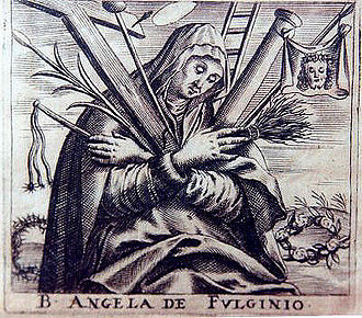 Angela of Foligno - 18th-century print.