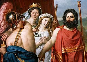 Iphigenia in Aulis - The Anger of Achilles by Jacques-Louis David