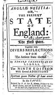 Edward Chamberlayne English writer