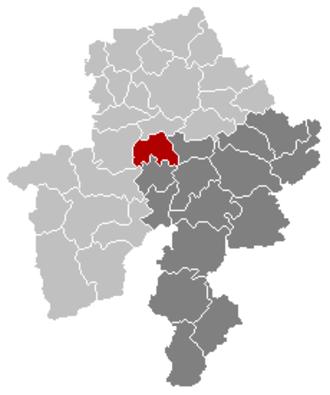 Anhée - Image: Anhée Namur Belgium Map