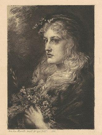 Anna Lea Merritt - Ophelia, 1880, National Gallery of Art