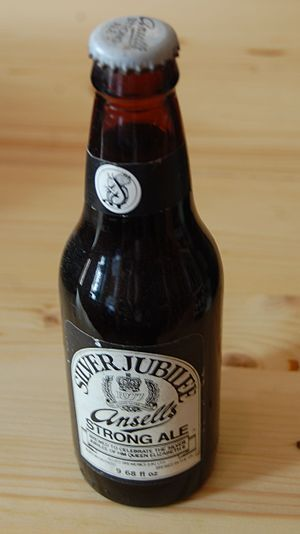 Ansells Brewery - An unopened bottle of Ansells Silver Jubilee Strong Ale, from 1977, commemorating the Silver Jubilee of Elizabeth II