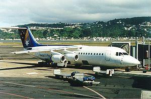 Ansett New Zealand - Ansett New Zealand BAe 146-300 at Wellington, 1999
