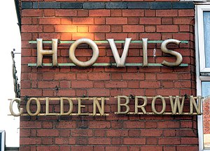 English: Antique advertising These Hovis bread...