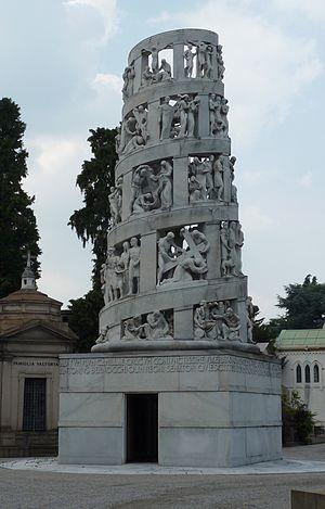 Cimitero Monumentale di Milano - Image: Antonio Bernocchi grave Milan 2015