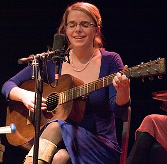 Aoife O'Donovan - Aoife O'Donovan playing guitar at a concert in 2009