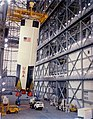 Apollo 8 first stage in the Vehicle Assembly Building.jpg