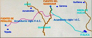 Italica - Route of aqueduct