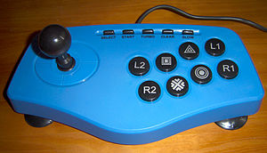 PlayStation 2 accessories - A PS2 arcade stick.