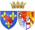 Arms of Charlotte de Rohan as Princess of Condé.png