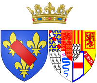 Arms of Charlotte de Rohan as Princess of Condé.png