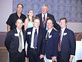 Art Anderson at 2006 San Diego Hall of Champions HS Coaching Legend induction, with members of his 1971 Clairemont High School CIF champion team (and granddaughter)..jpg