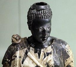 Arte romana con restauri moderni, testa di moro antico con corpo di restauro 03