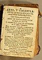 Arte y vocabulario de la lengua quichua general de los indios de el peru Diego De Torres Rubio 1754 title page.jpg