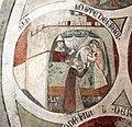Asciano, museo di palazzo corboli, int., sala di aristotele con affreschi attr. a Cristoforo di Bindoccio e Meo di Pero, XIV sec. 08.JPG