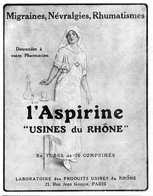 Aspirine Usines du Rhône : advertisement of 19...