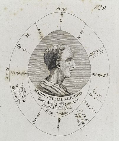 Chart Birthday Astrology: Astrological birth chart for Cicero Wellcome L0040340.jpg ,Chart