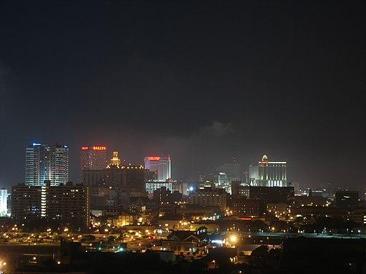 Atlantic City night skyline, June 2007