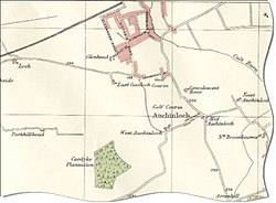 Map of Auchinloch in 1923