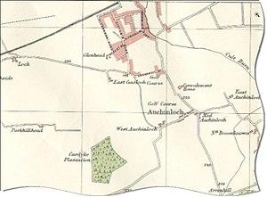 Auchinloch - Image: Auchinloch Map 1923