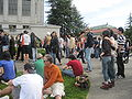 Audience on Memorial Glade for Cold War Kids concert at Cal Day 2010 5.JPG