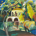 August Macke, 1912, Rokoko, oil on canvas, 89 x 89 cm, National Museum of Art, Architecture and Design, Norway.jpg