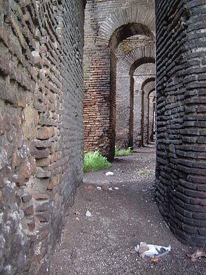 Aurelian Walls - Sentry passage near Porta Metronia.