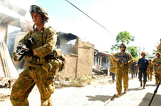Operation Astute - Australian soldiers supporting the Dili Fire Service in June 2006