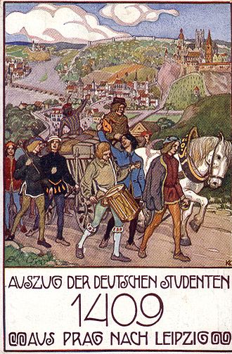 Decree of Kutná Hora - Image: Auszug aus Prag 1409