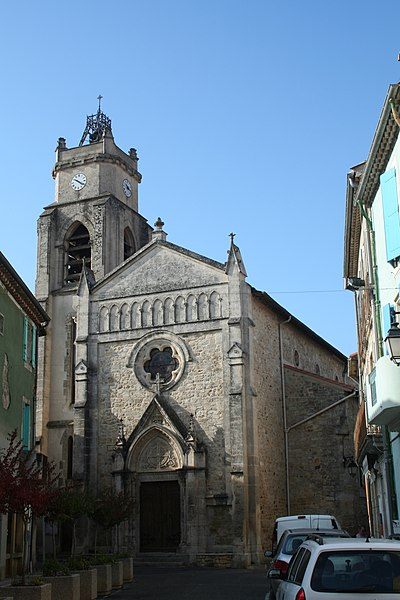 Autignac (Hérault) - église Saint-Martin.