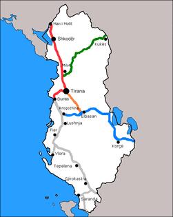 Autostrada shqiperi Netzwerk.PNG