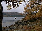 Autumn colours on the shore of Loch Sunart, Port na h-Uamha The little inlet of Port na h-Uamha provides a safe anchorage, barely noticeable on the OS map and easily passed, this inlet is right alongside the A861 betwixt Ceol na Mara and Resipole.
