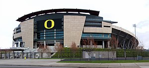 Autzen Stadium in Eugene, Oregon.