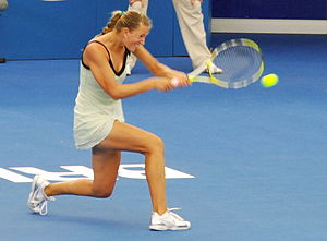 English: Victoria Azarenka at 2009 Brisbane In...