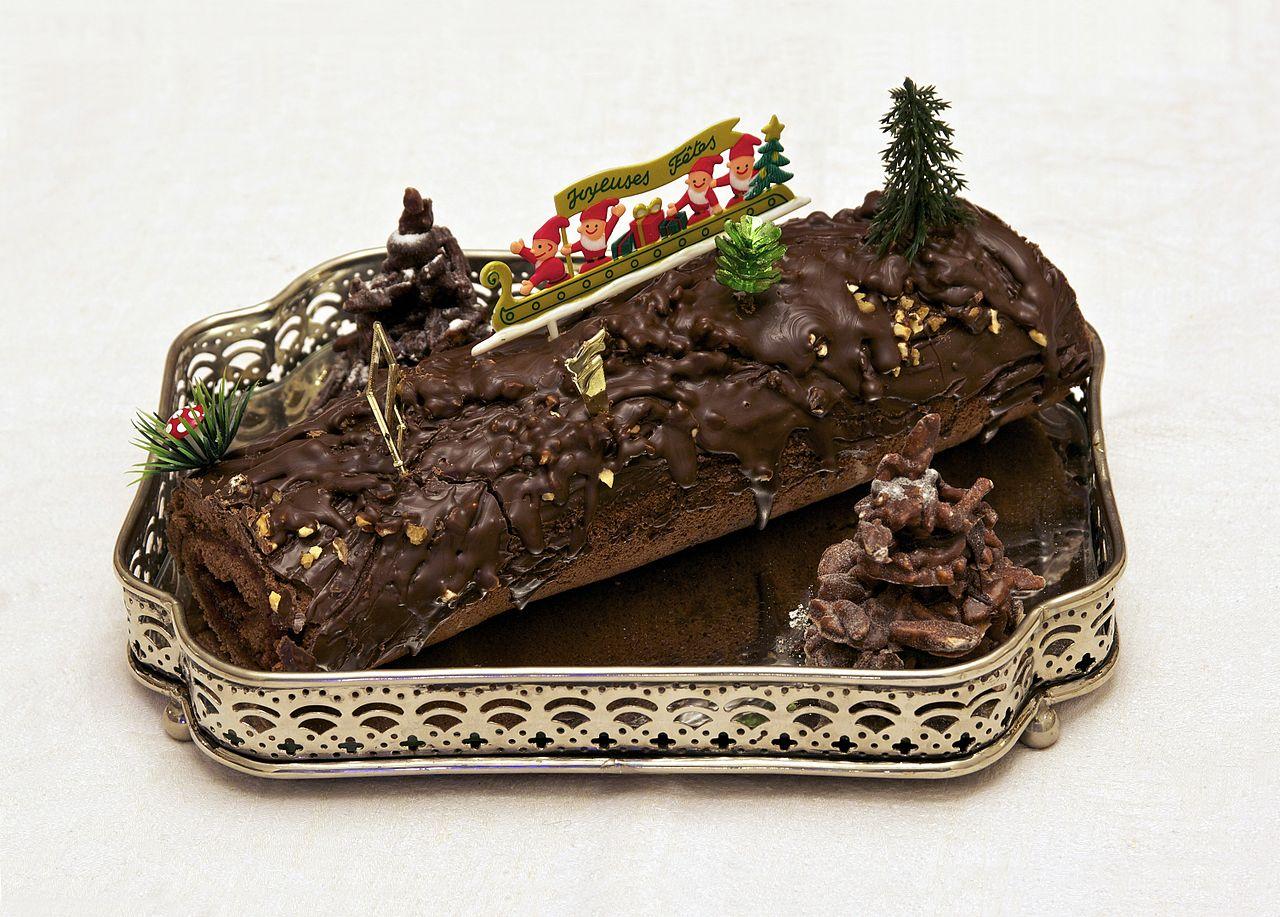 File Buche De Noel Chocolat Framboise Maison Jpg Wikipedia
