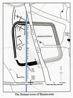 Plan of the site of Bannaventa