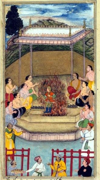 Dhrishtadyumna - Image: BILAL HABSI yaja upayaja performs yagna and emerges of dhristadhyumna