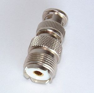 UHF connector - Adaptor from SO-239 to BNC connector