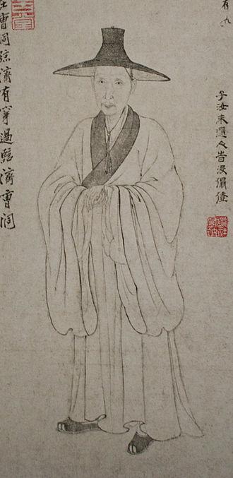 Bada Shanren - Bada Shanren Portrait 1674