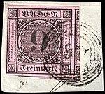 Baden 1851 9kr Mi4 used.jpg