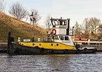 Baggerwerkzaamheden op de Langwarder Wielen. Duw-Sleepboot Butskop 01.jpg