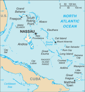 Outline of the Bahamas - An enlargeable basic map of the Bahamas