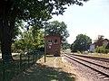 Bahnhof Weischlitz, Strecke nach Oelsnitz (Vogtl) und Stellwerk (2).jpg
