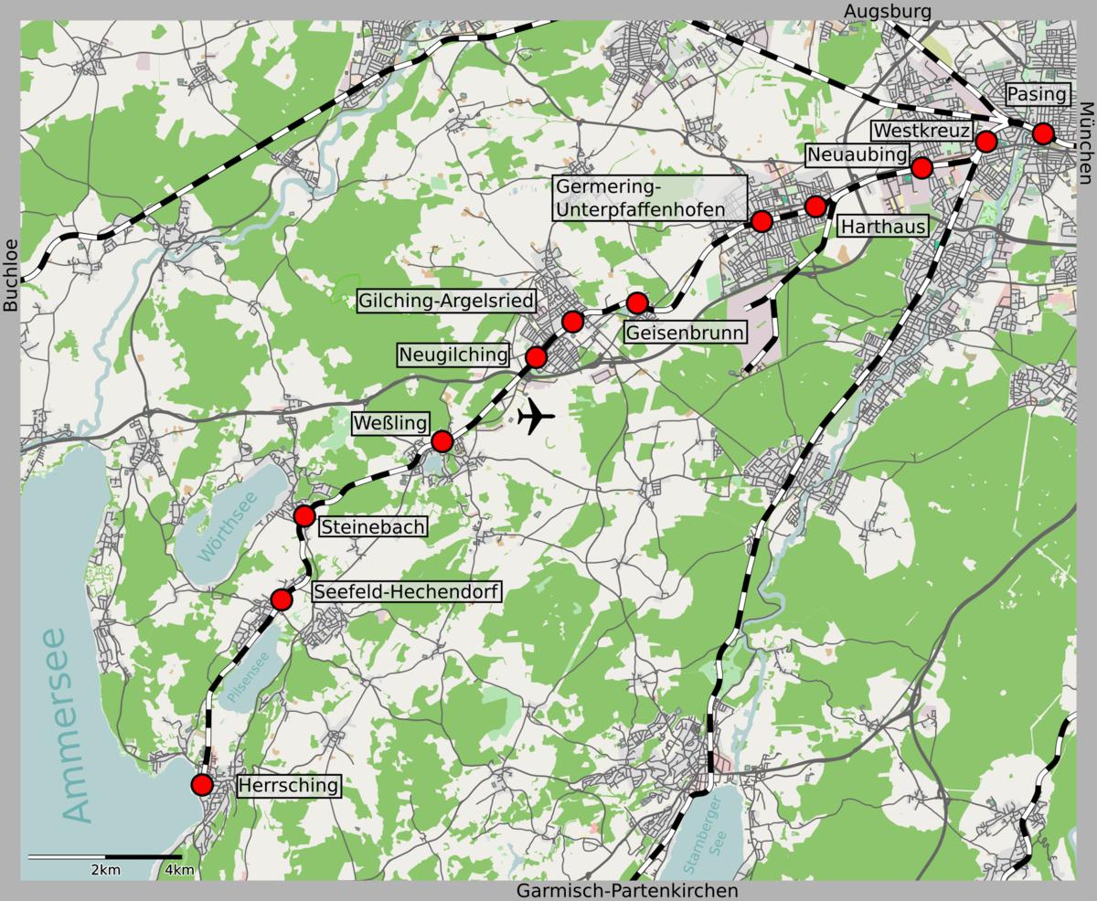 Munich Herrsching Railway Wikipedia