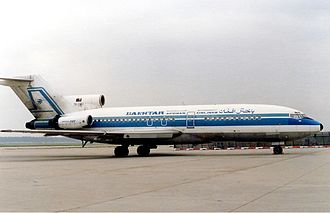 Bakhtar Afghan Airlines - A Boeing 727 of Bakhtar Afghan Airlines at Frankfurt Airport in the late 1980s.