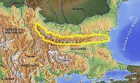 Balkangebirge Balkan topo de.jpg