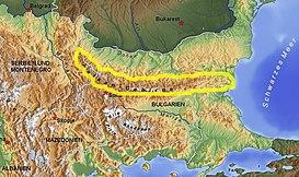 Montes Balcanes Mapa Geografico.Montes Balcanes Wikipedia La Enciclopedia Libre