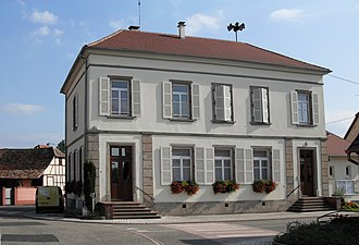 Baltzenheim - The town hall in Baltzenheim