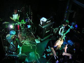 Balzac (band) - Balzac performing at B72 Club in Vienna, Austria, 2005. Clockwise: Atsushi, Hirosuke, Akio and Takayuki.