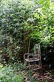 Bamboo and garden chair at Nuthurst, West Sussex, England.jpg